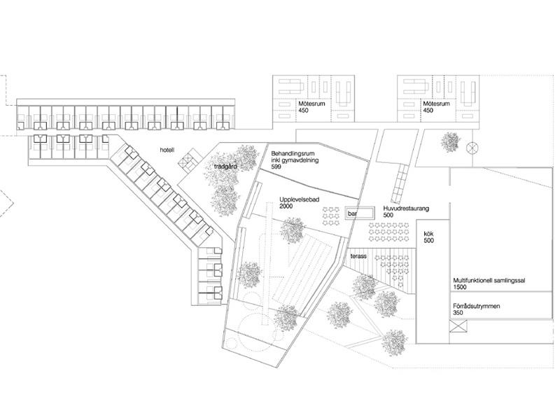 Kylpylähotelli, Åre, Luonnossuunnitelma