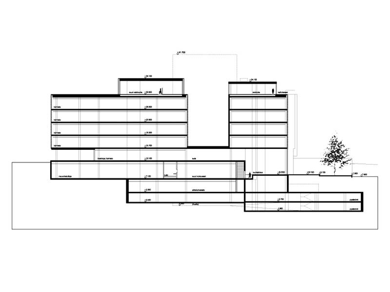 Kilpailuehdotus, Eduskunnan lisärakennus, Helsinki, 3.palkinto