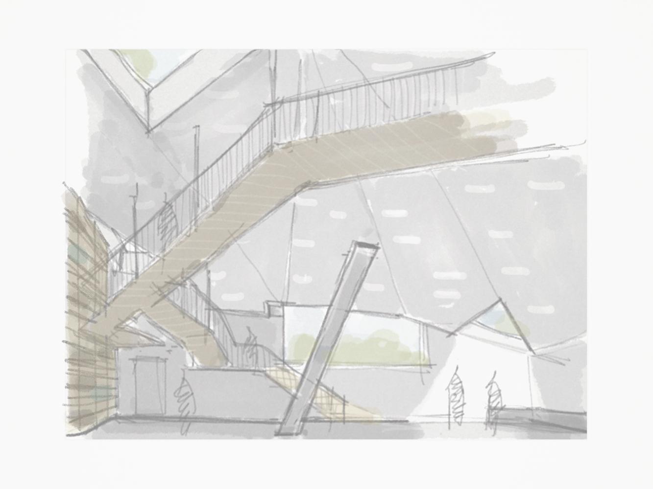 Kilpailuehdotus, Alvar Aalto-museon ja Keski-Suomen Museon nivelosa